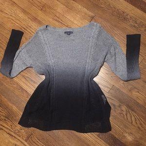 AEO Gray Ombré Sweater